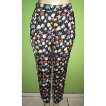 Calça Pantalona Cintura Alta Zara Estampa Floral M