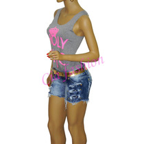 Short Jeans Destroyed Detonado Rasgado Hot Pants Feminino