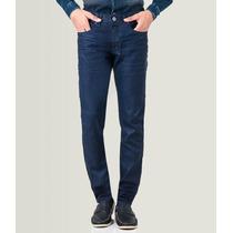 Calça Resinada Preta Imita Couro Jeans C/ Lycra Caution