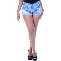 Short Jeans Sawary Feminino Mesclado Belíssimo! #ste