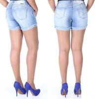 Sawary Jeans Short Bermuda Levanta Bumbum Sabrina Pit Bull