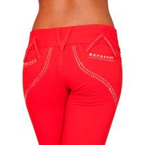Calça Moletinho Obsessão Vermelha Skinny Ñ É Jeans Ca739 Br