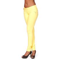 Calça Moletinho Skinny Feminina Amarela Não É Jeans Ca736 Br