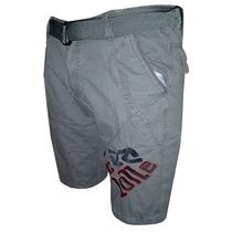 Bermuda Jeans Cyclone Cinza Cy40 Frete Grátis