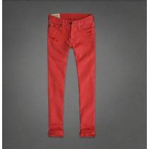 Abercrombie Calça Jeans Vermelha Skinny Masculina Tamanho 40 Br