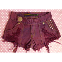 Short Jeans 40 Customizado Lovely Lolla Exclusivo Destroyed