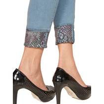 Calça Leg Jeans Strech Delave Modela Skinny Bumbum Sexy 823
