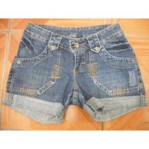 Shorts Jeans Curto Jezzian Tam 36 Ótimo Estado
