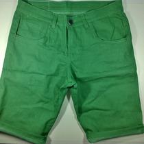 Bermuda Jeans Colorida Com Elastano