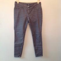 Calça Jeans Xadrez Em Cinza - Awe Jeans - Tam:46 - C.440