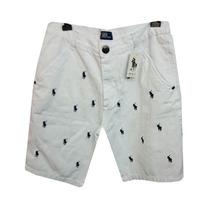 Bermuda Jeans Ralph Lauren Branca Rl64 Original