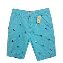 Bermuda Jeans Abercrombie Azul Claro Af323 Original