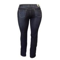 Calça Jeans Feminina Lycra Cós Alto Plus Size 1944