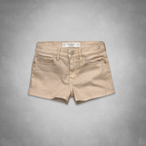 Short Feminino Dourado Abercrombie Camisetas Polos Hollister