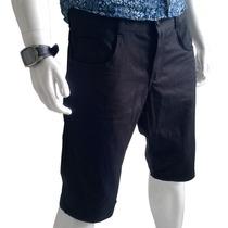 Bermuda Jeans Preta Masculina Oslen