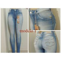 Hot Pants Cintura Alta Jeans Claro Tamanhos 36 Ao 46