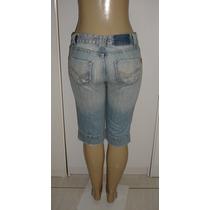 Calça Capri Jeans Sawary Fem. Tam. 38 S/ Strech Semi Nova