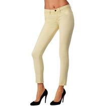 Calca Jeans Skinny J Brand Amarelo Claro!!!!