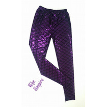 Legging Sereia Mermaid Roxa.