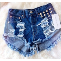Short Jeans Customizado Detonado Destroyed Hot Pant