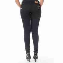Sawary Calça Jeans Legging Feminina Cintura Média Ziper