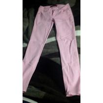 Calça Jeans Cor De Rosa Claro