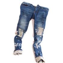 Calça Jeans Detalhe Onça