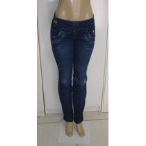 Calça Fem. Jeans.com Tam. 38 C/ Strech Semi Nova