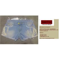 Shorts Jeans Claro, Customizado, Pronta Entrega.