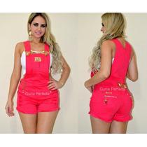 Jardineira Pit Bull Jeans Pink Levanta E Modela O Bumbum!!!