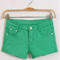 Shorts Skinny Algodao Jeans Macio
