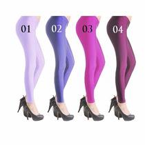 Legging Metalizada Roxa Calça Leg Neon Brilhante Fitness