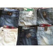 Kit Bermudas Jeans Atacado 5 Unidades Melhores Marcas