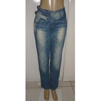 Calça Jeans Fem. Tam. 46 C/ Strech Planet Girls Semi Nova