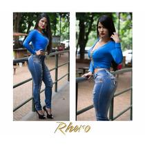Calça Jeans Feminino Rhero Destroyed