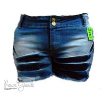Shorts Jeans C/ Lycra-feminina-42-44-46-48-50-52-54-56-58-60