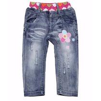 Calça Jeans Infantil Meninas Peppa Pig