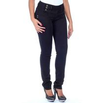 Calça Jeans Sawary Skinny Levanta Bumbum Intermediária