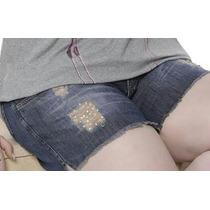 Short Bermuda Jeans Barra Desfiada Moda Maior Tamanho 50 Exg