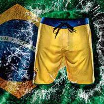 Bermuda Hurley Phantom Seleção Brasileira Amarelo - Original