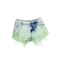 Shorts Degrant Degrade Detonado Verde - Queima De Estoque