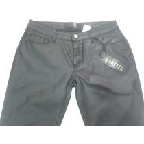 Calça De Sarja,parafinada,cintura Meio Termo,tamanho 44 E 46
