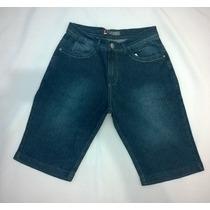 Bermuda Jeans Masculina Lemier Original Com Elastano