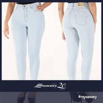 Sawary Jeans Hot Pant Cintura Alta Cós Alto Levanta Bumbum
