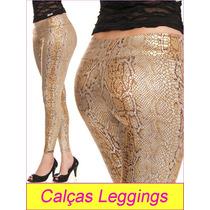 Calça Legging Onça (ca626-9) Temos Social Sawary Cobra