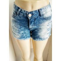 Shorts Jeans Rasgado Dardak - Feminino