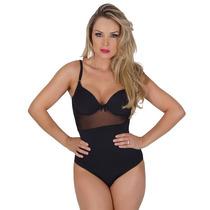 Lingerie Sexy Body Em Microfibra Com Telinha E Laço J03