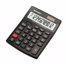 Calculadora Sharp Solar Básica De 12 Dígitos Grandes Ch312