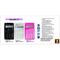 Calculadora Científica Dtc 7s 56 Funções, 10 Dígitos Branca