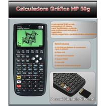 Calculadora Gráfica Hp 50g Com Manual Em Português E Capa